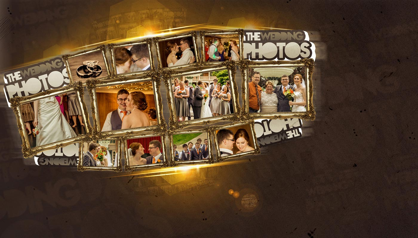 Designing Wedding photo collage and retouching