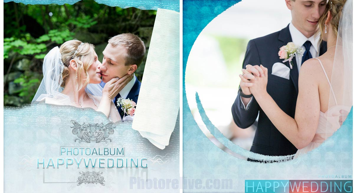 modern wedding photobook cover design back and front