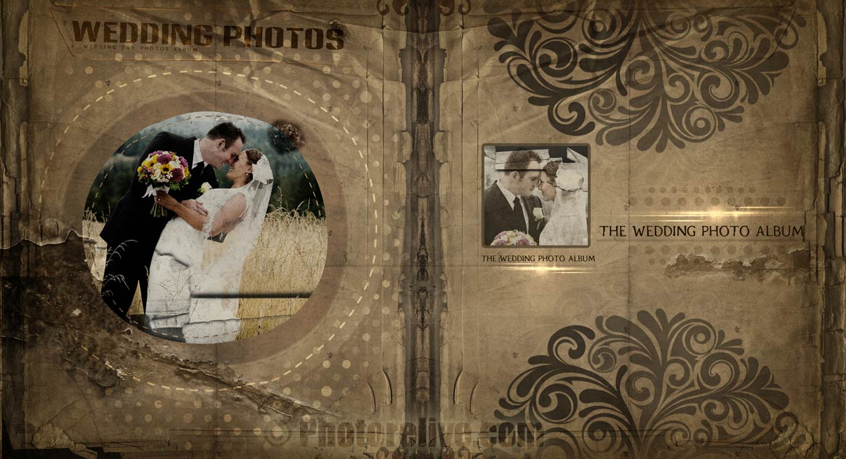 Old Wedding photos retouching photobook design