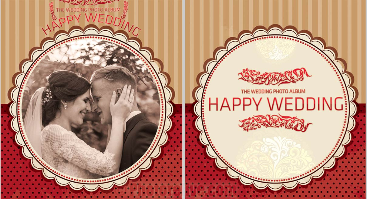 old wedding photos cover design
