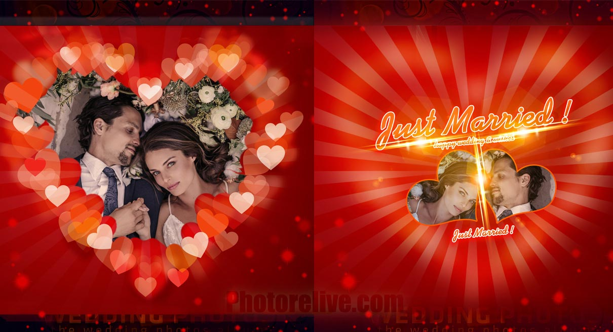 wedding photo retouching and design