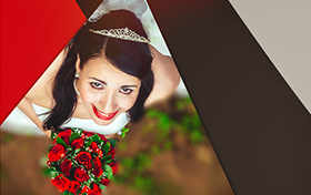 bride photos album photoshop editing