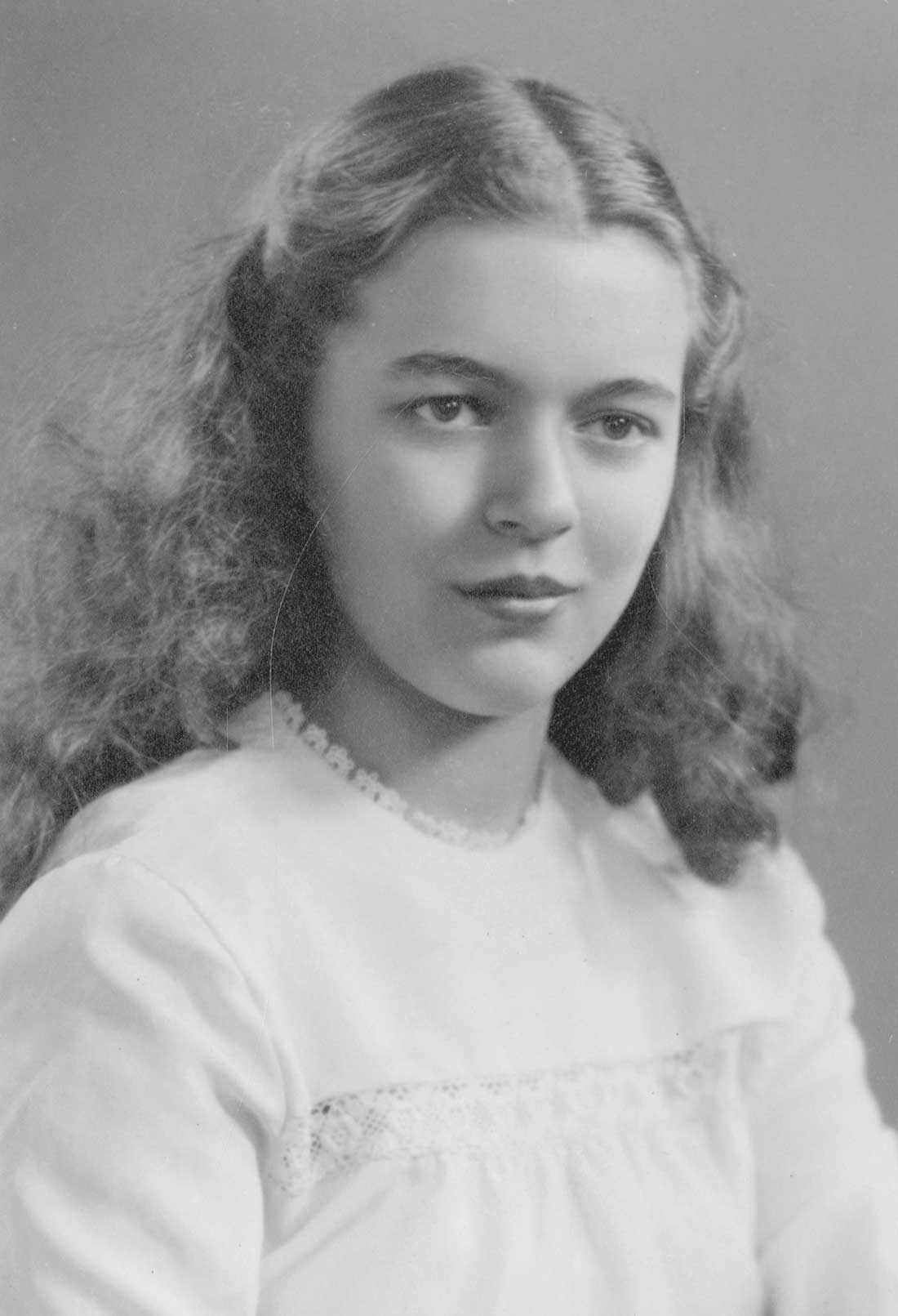 black and white portrait photo of a girl