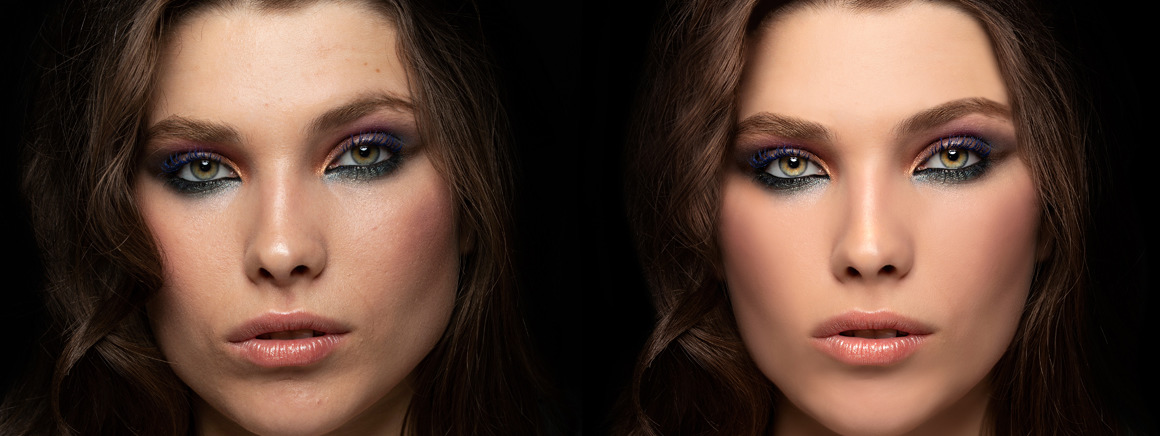 Photo retouching services after sample for a model girl